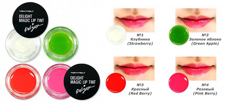 Блеск для губ Delight Magic Lip Tint от Tony Moly