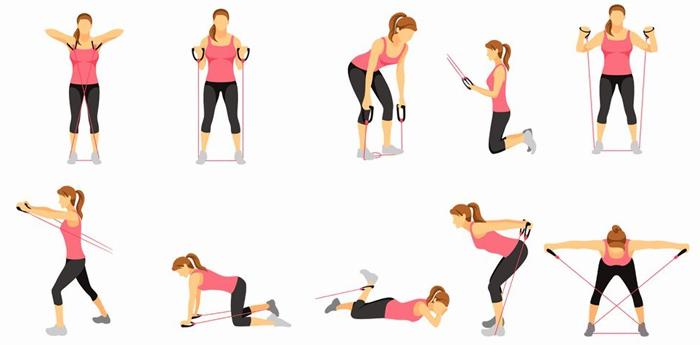 Упражнение с эспандером восьмерка для женщин в домашних условиях 374